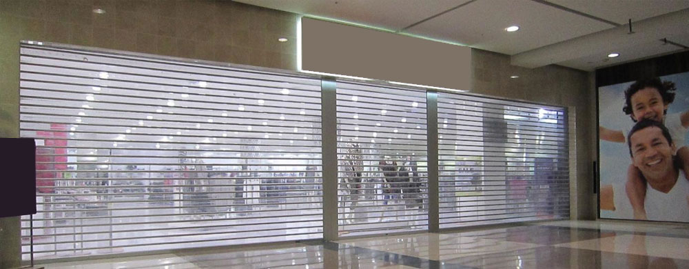 Transparent Remote Control Rolling Shutters India Avians